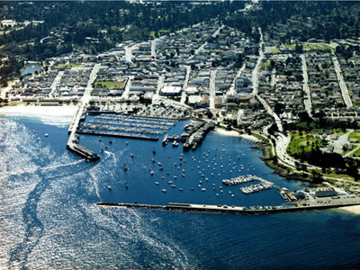 Aerial photo of Monterey Bay and Harbor courtesy of the City of Monterey