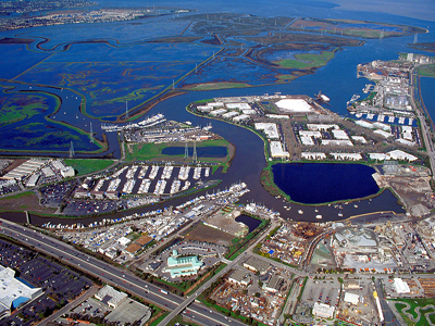 Aerial photo of the City of Redwood City