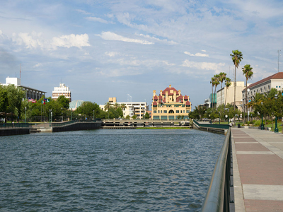 Photo of downtown Stockton By LPS.1 (Own work) [CC0], via Wikimedia Commons
